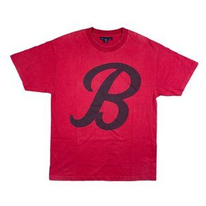 Black Scale Red B Logo T-Shirt Men's L Made in USA